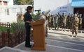 MINURSO organizes a farewell parade in honor of the outgoing SRSG and Head of MINURSO Kim Bolduc